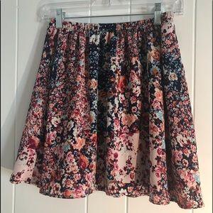 🍒Speechless Floral Boho Mini Flow Skirt